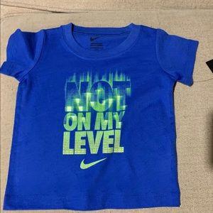 NWT NIKE BOYS T-SHIRT SZ 12 months blue